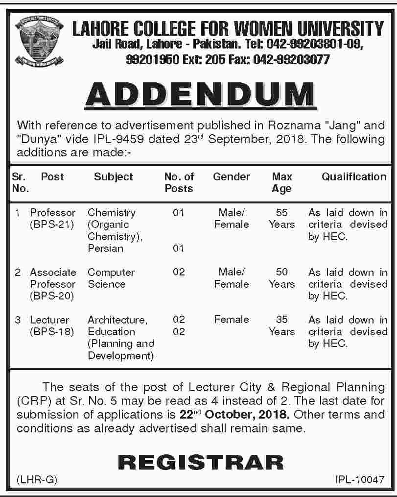 Lahore Latest Jobs 2019