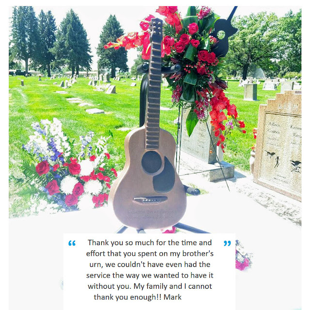 guitar urn for human ashes