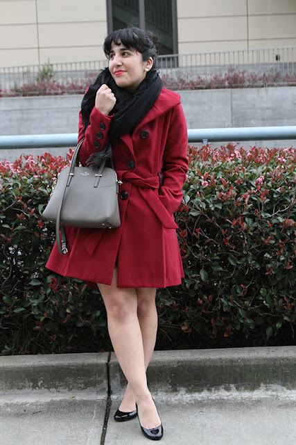Modcloth Steve Madden Red Coat Winter Outfit Inspiration