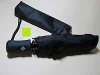 Schirm und Tasche: GHB Automatic Regenschirm Taschenschirm mit 96 cm Durchmesser Schwarz