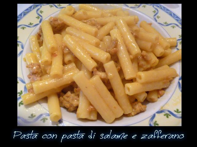 Mezzogiorno Di Cuoco Sedanini Con Pasta Di Salame E Zafferano