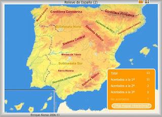 Resultado de imagen de mapa de las cordilleras de españa