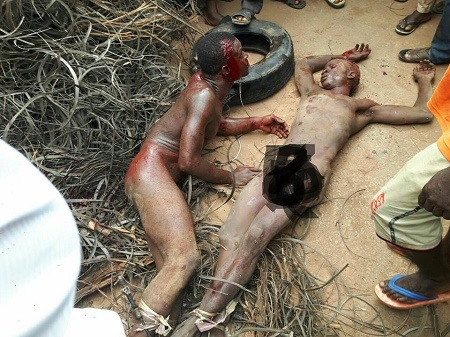 Omg!!! What Angry Mob Did to Two Thieves Caught in Imo will Make You Cry (Graphic Photos)