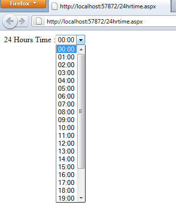 C# Conversion of DateTime to 24 Hours Time in Asp Net