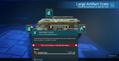 No Man's Sky, Artifact Crates, Ancient Keys Locations