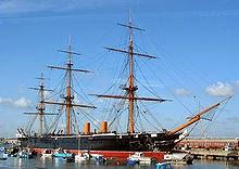 HMS Warrior (1860), inglés y casco de hierro