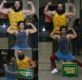 #instamag-varun-dhawan-flexing-with-wwe-superstar