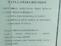 Lowongan kerja Padang - Karyawan Boutique
