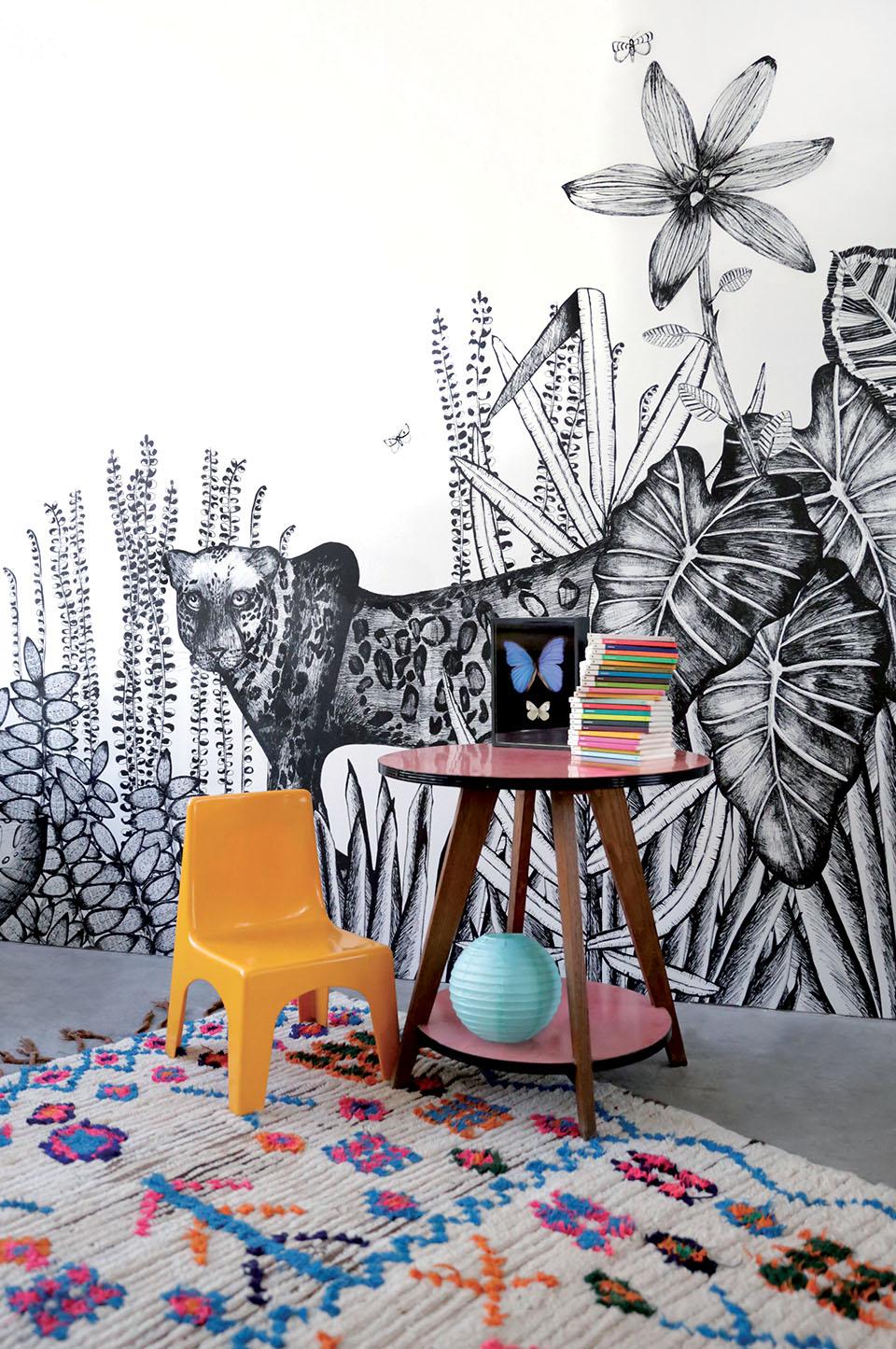 la petite fabrique de r ves papier peint the wild by c line figuette. Black Bedroom Furniture Sets. Home Design Ideas