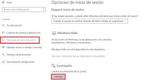 cambiar contraseña usuario windows