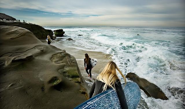 Windansea Beach em San Diego na Califórnia