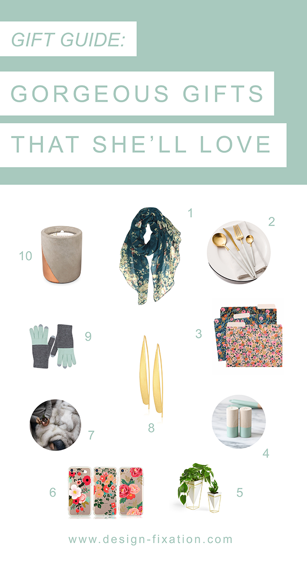 Gift Guide: 10 Perfect Holiday Gifts For Her /// By Faith Towers Provencher of Design Fixation