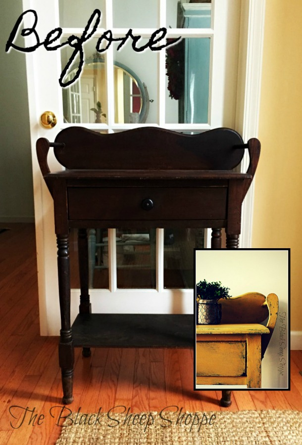 This vintage washstand was ready to fall apart. But with a little bit of glue and a fresh coat of paint it's ready for a new life.
