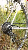 Vélo vintage restauré avec dérailleur Simplex