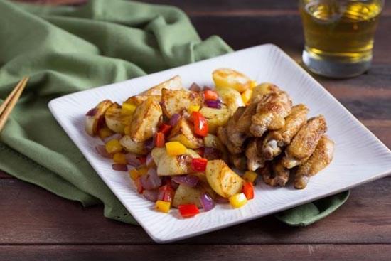 Cánh gà rán khoai tây