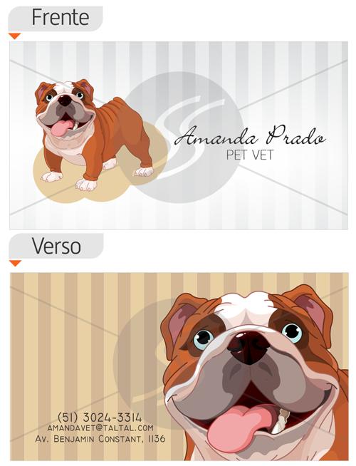 cartoes de visita veterinarios dog - 15 lindos Cartões de Visita de Veterinários