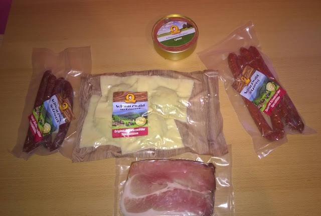 5 verschiedene Produkte der Schwarzwald Metzgerei.