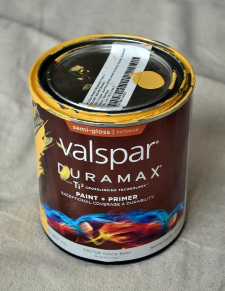 Valspar Yellow Paint