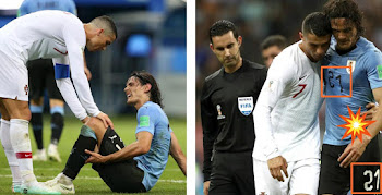 c5b0e3fd445 Cavani Number Printed Upside Down in Uruguay vs Portugal 2018 World Cup  Clash
