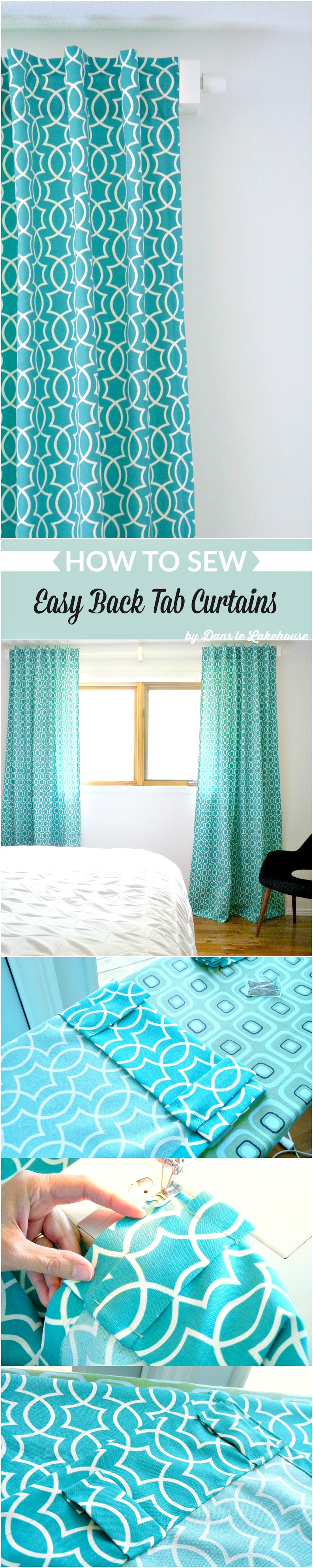 How to sew easy back tab curtains