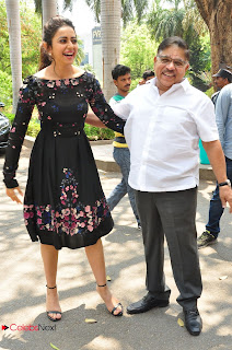 Actress Rakul Preet Singh Pictures in Short Dress at Sarrainodu Press Meet  0009.JPG