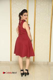 Telugu Tollywood Anchor Manjusha Pos in Red Short Dress  0152.JPG