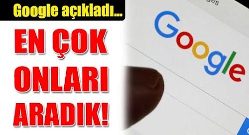 Google, Türkiye'de En Çok Aranan Kelimeleri Paylaştı