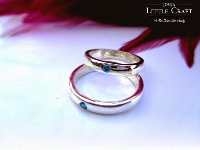 cincin perak half rattan eye - jogja little craft