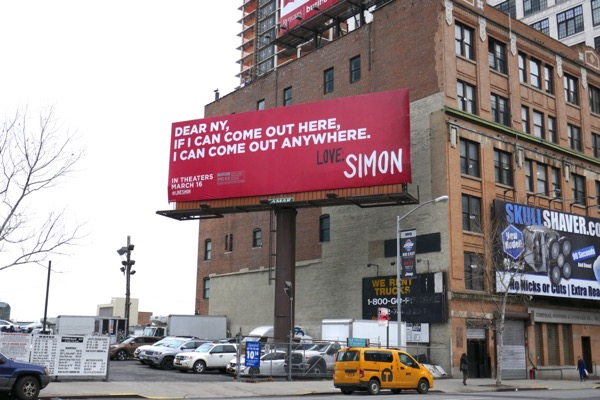 Love Simon film billboard