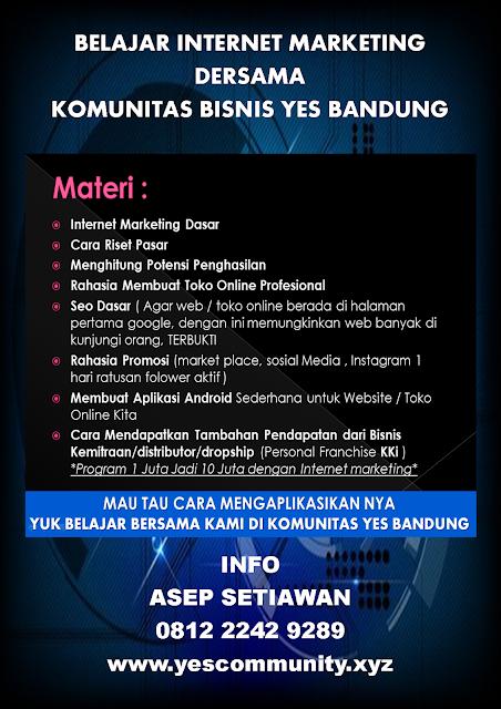 Belajar Internet Marketing Dengan Komunitas YES Bandung
