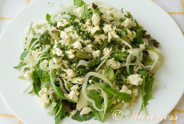 Салат с дыней, фетой и фенхелем от Гордона Рамзи. Итальянская кухня