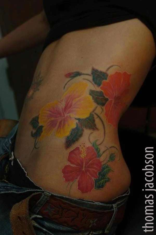 Image Gallary 1: Beautiful Hibiscus Tattoo Designs