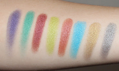 Kat Von D Metal Crush Eyeshadow Swatches