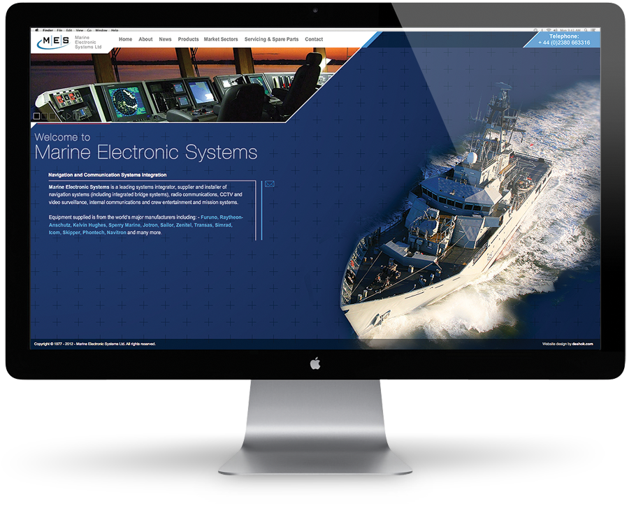 Marine Electronic Systems website home screen
