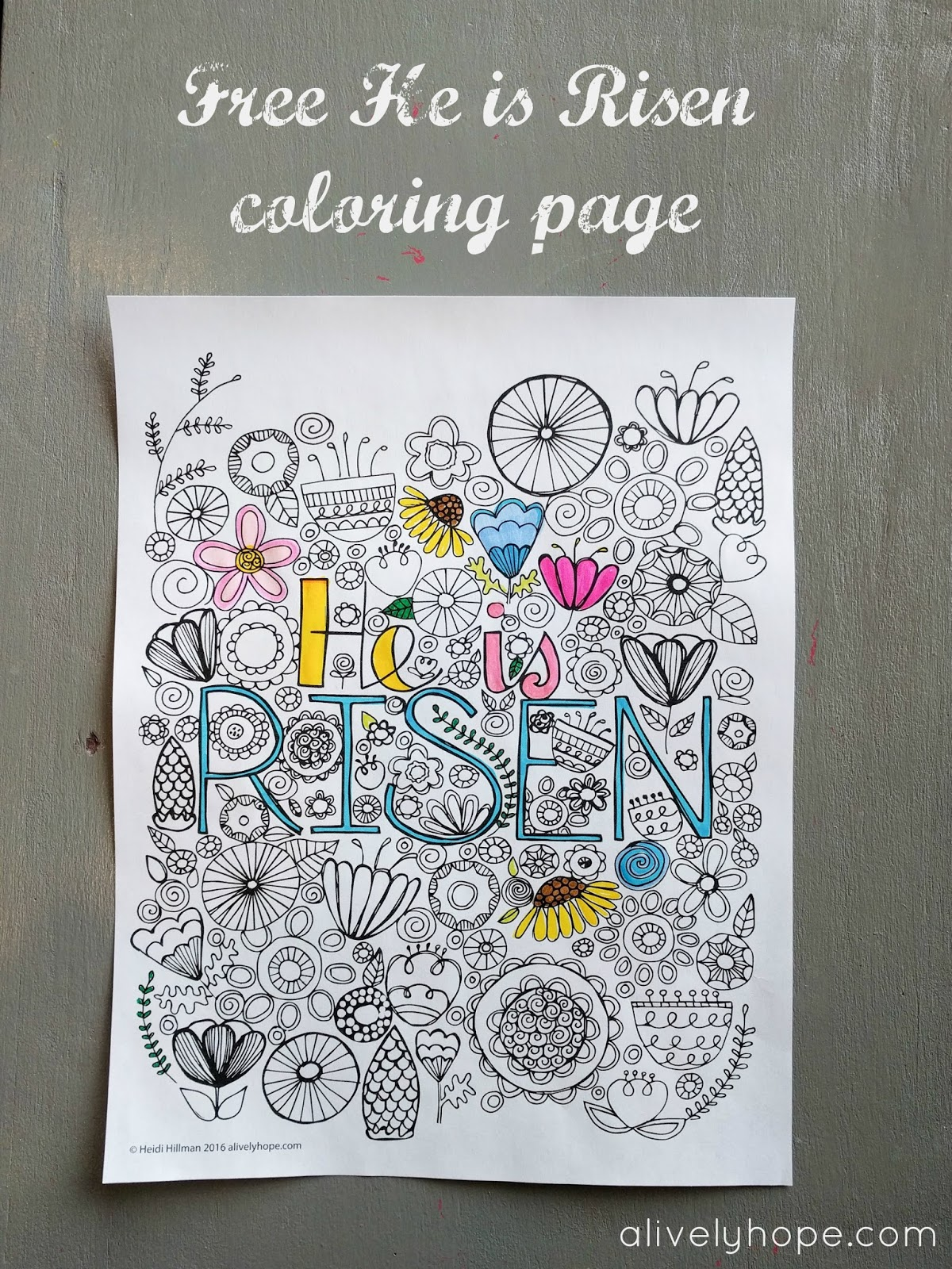 He Is Risen Coloring Page Free Download