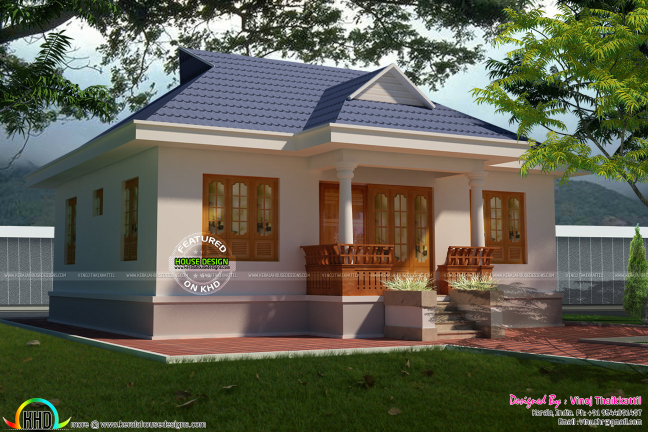 Cute little kerala traditional home kerala home design for Kerala traditional home plans