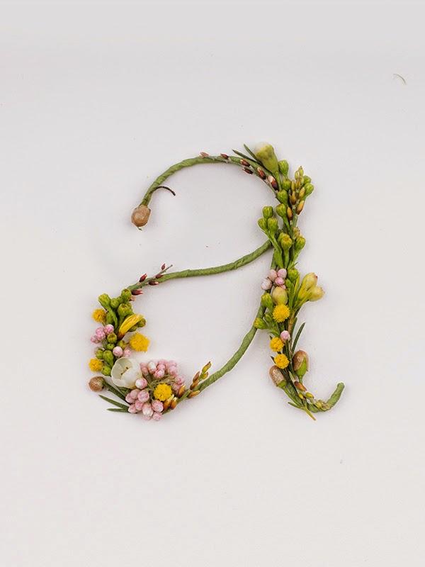 alfabeto floral Alice Mourou
