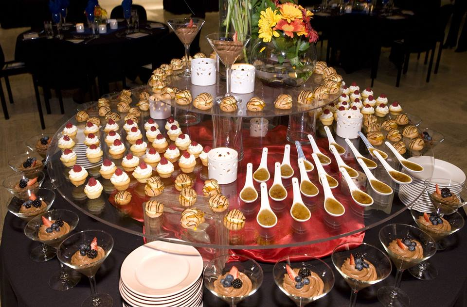 Latest wedding dessert bar ideas catering trends technology place chocolate milk chips in glass bowls and add some fresh mint or lemon zest fragrance near the dessert bar junglespirit Images
