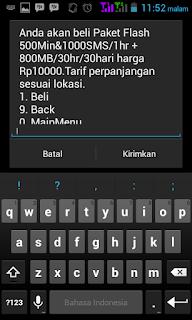 pemberitahuan melalui sms yang di kirimkan dari telkomsel