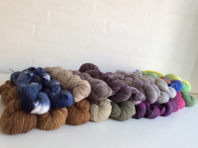 Hand dyed yarn by Heike Gittins