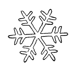 snowflake digital download image illustration