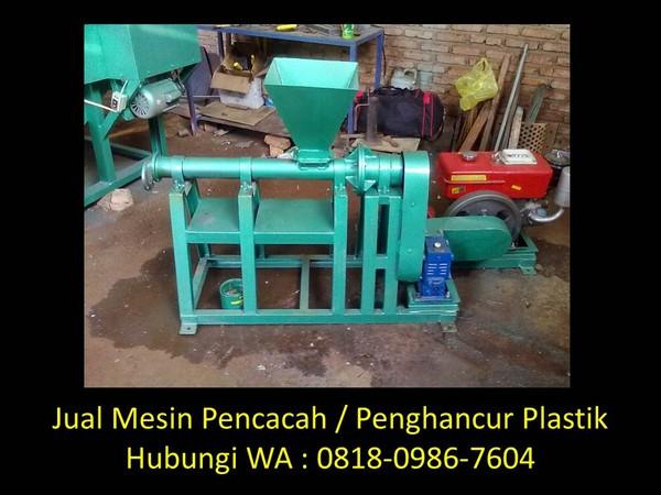 analisa mesin pencacah plastik di bandung