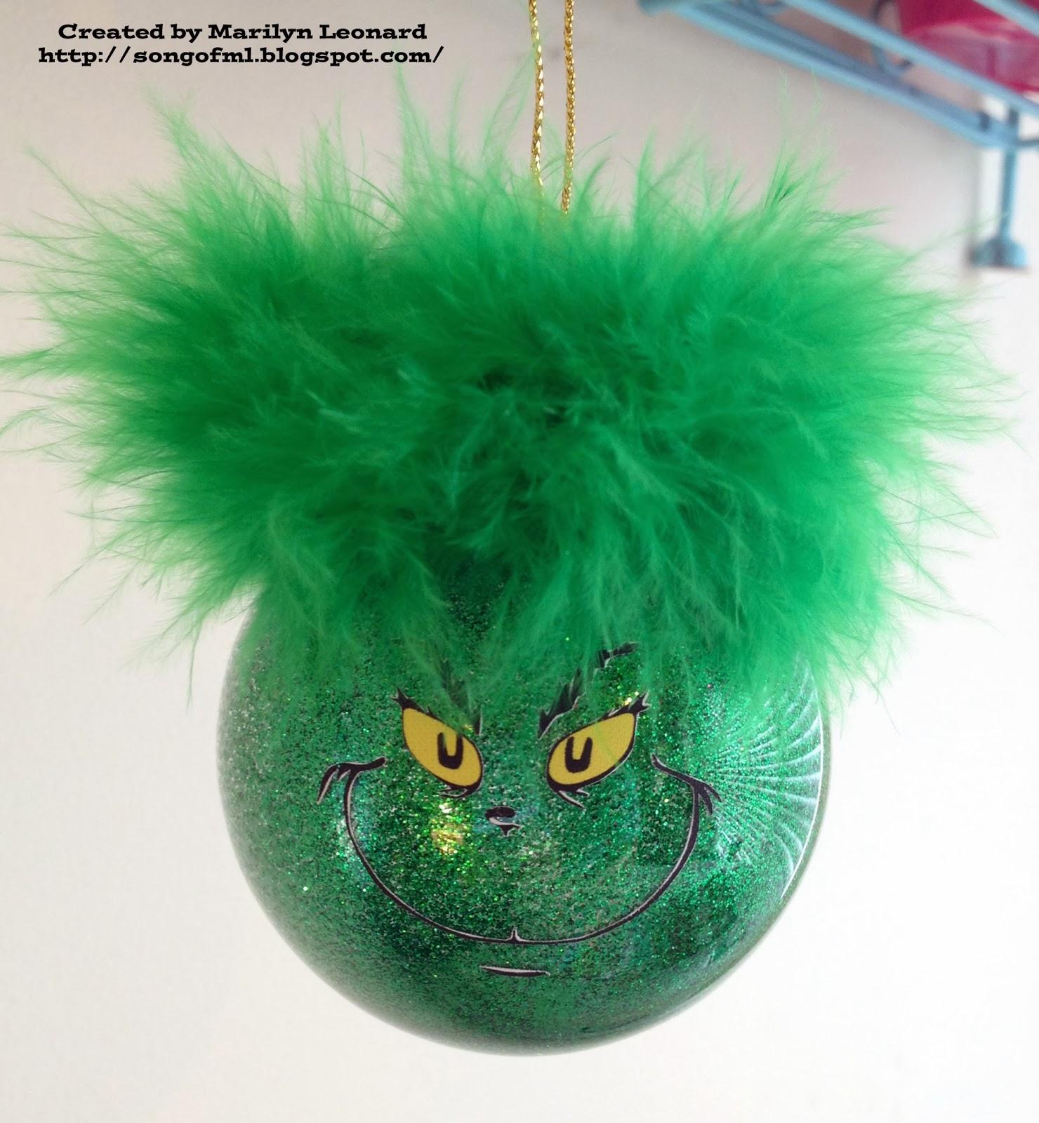 Marilyn S Crafts Grinch Ornament
