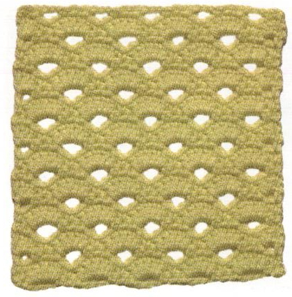 Patrón #1166: Encaje de Concha a Crochet