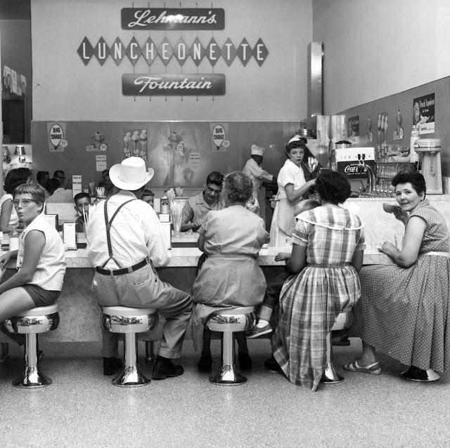 Lehmanns Luncheonette Kerrville, 1960s
