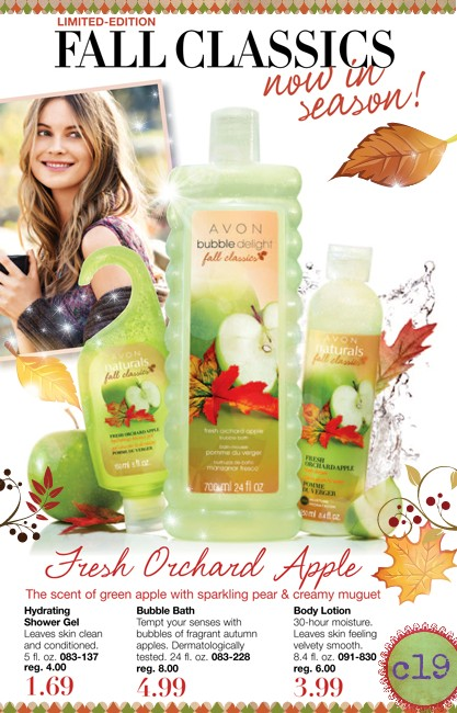 Avon Limited Edition Bubble Delight Fall Scent Fresh Orchard Apple