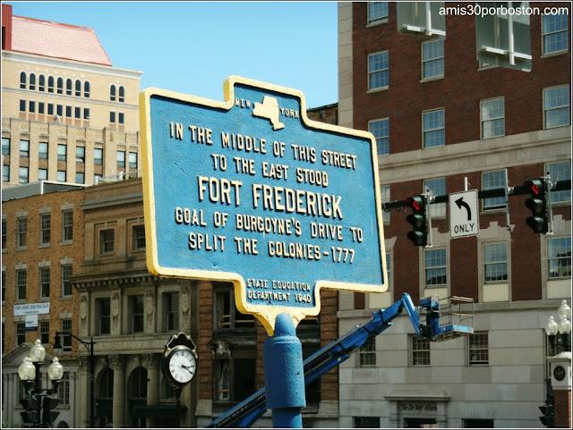 Placa del Fort Frederick en Albany