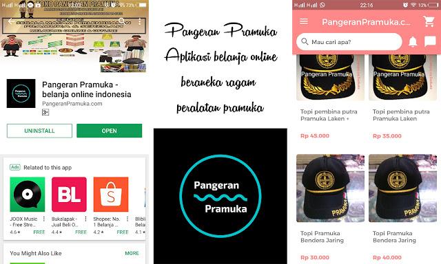 Pangeran Pramuka – Aplikasi Belanja Online Aneka Ragam Peralatan Pramuka Terpercaya