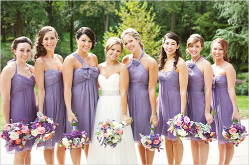 Dress to Surprise: Pick Glamorous Non-Matching Bridesmaid ...