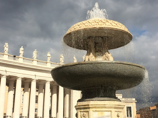 Fountain in Saint Peter's Square, Rome,Italy